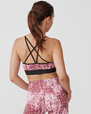 Yoga BH Flattering Sports Bra, Pink Dot - Stay in place