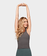Yogatopp Eko Soft Crop Top, Heather Charcoal - Manduka