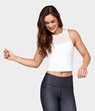 Yogatopp Solite Crop Top, White - Manduka