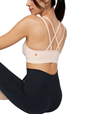 Yoga BH Cross Strap Bra, Blush - Manduka