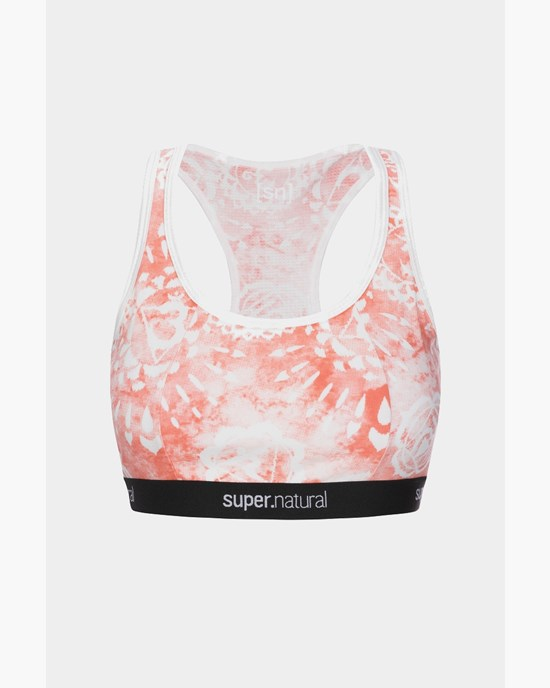 Yoga BH Yoga Bustier Printed, Fresh White/Georgia Chakra Print - Super.Natural
