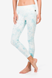 Yogatights Super Tights Printed, Fresh White/Wild Mint Chakra Print - Super.Natural