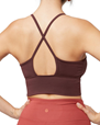 Yoga BH Darted Bra, Dark Chestnut - Manduka